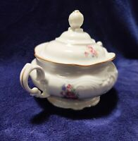 VINTAGE WAWEL ROSE PEONY China Floral Gold Trimmed Sugar Bowl Made in Poland