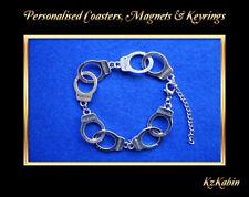 Handcuffs Silver Tone Bracelet Novelty Birthday Gift Fashion Jewellery New