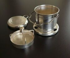More details for rare 18th 19th century solid silver french cup tea infuser stamped mia paris