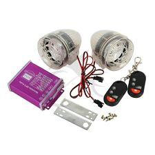 Anti-Theft Alarm System Motorcycle MP3 FM Audio Radio Stereo Speakers Purple New