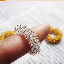 2pcs Acupressure Sujok Pain Therapy Finger Massager Circulation Ring Pop UK