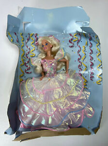 Barbie Happy Birthday Barbie Doll 1995 with Cardboard Punch Outs #14649
