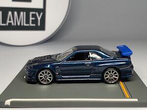 Hot Wheels Nissan Skyline R34 GT-R 2010 First Edition RARE dark blue Lamley Sale