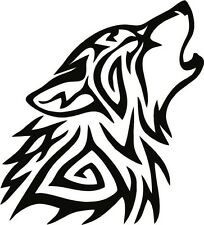 TRIBAL WOLF Vinyl Decal 150mm / 6""