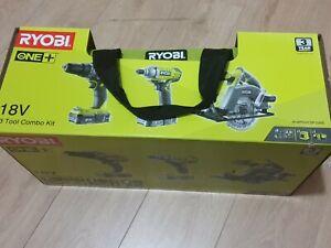 Ryobi 3 Tool Combo Kit R18PDIDCSP-220s