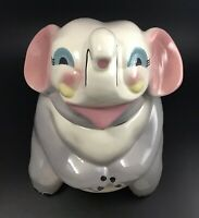 Vintage Sierra Vista California Pottery Elephant Cookie Jar RARE