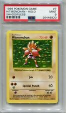 Pokemon Card Unlimited Shadowless Hitmonchan Base Set 7/102, PSA 9 Mint