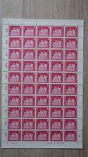 Feuille Sheet SUISSE HELVETIA 1968 Mi: 878  Yt: 815 Lenzburg Neufs MNH**