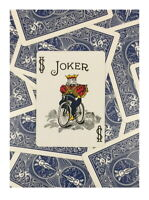 One Way Forcing Deck for Magic Tricks, Blue Bicycle Joker (Color)
