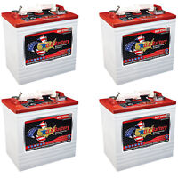4x U.S. Battery US2200 GC2 6V 232A Deep Cycle Batteries For Solar Grid Setup RVs