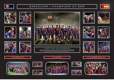 New FC Barcelona Limited Edition Oversized Memorabilia Framed