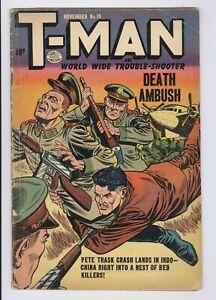 T-Man #19 (1954) VG Golden Age Quality Comics