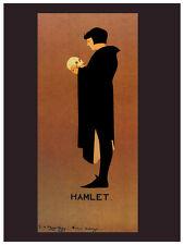 POSTER HAMLET PRINCE OF DENMARK SHAKESPEARE HAGHE SPELERS VINTAGE REPRO FREE SH
