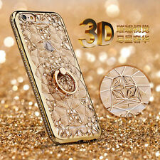 Shockproof Luxury Bling Diamond Frame Stand Holder Cover Case For iPhone5 6 6S 7