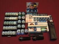 Large Lot of Vintage Camera Flash Cubes, Bulbs & Flash Extenders, See Desc.