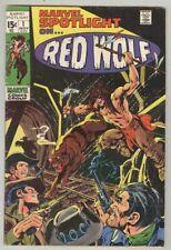 Marvel Spotlight #1 November 1971 VG Red Wolf, Neal Adams cover
