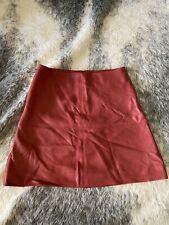 KOOKAI Leather New Jersey Skirt Red Sz 36