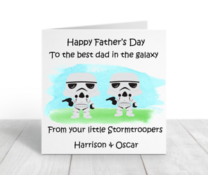 Personalised Handmade Father's Day Card, Stormtrooper, Daddy, Grandad, Grampy