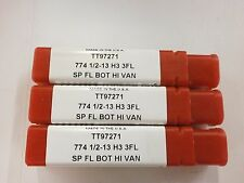 3pc) 1/2-13 H3 CNC HIGH VANADIUM SPIRAL FLUTE BOTTOM TAP TITAN USA TT97271 TT185