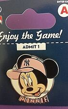 MLB -YANKEES MINNIE MOUSE PINK CAP ( breast cancer support pink) TRADING PIN