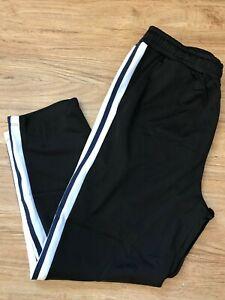 Topman Polyester Joggers Black Side Stripe Tracksuit Pants Trouser Medium Short