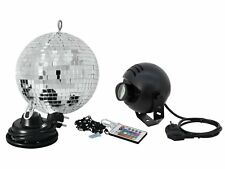 Spiegelkugel/Discokugel/Mirror Ball Set Party-Paket mit LED RGB Spot PST-9W & FB