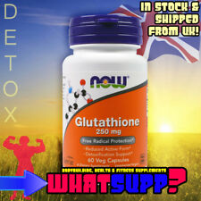 GLUTATHIONE 250mg 60 NOW (Reduced Form) BEST Detox cell liver support immune sys