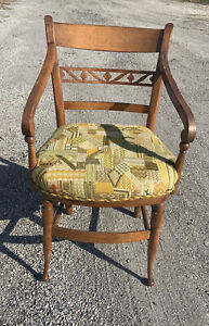 Antique Sheraton Country American Arm Chair Fine Skinny Legs America 🇺🇸