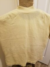 Vintage Polyester Full Fashioned T Shirt Large Tan