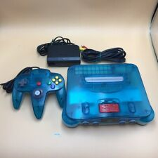 P9376 Nintendo 64 N64 console Clear Blue japan w/Controller set * Express