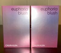 2x Calvin Klein EUPHORIA BLUSH Eau De Parfum Sample Sprays .04oz, 1.2ml Each