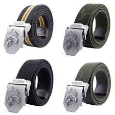 Mens Canvas Belt Military Tactical Waist Belt Tiger Alloy Buckle Belts 3.8cmEF