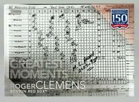 """2019 TOPPS ROGER CLEMENS GREATEST MOMENTS 5X7"""" JUMBO CARD #/49 GM-4 RED SOX"""