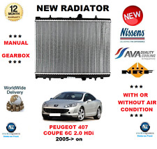 FOR PEUGEOT 407 COUPE 6C 2.0 HDi MANUAL 2005> NEW RADIATOR OE QUALITY