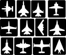 12x planes top up glitter tattoo kit face painting Airbrush (reusable)