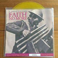 "Faith No More - A Small Victory 7"" Yellow Vinyl"
