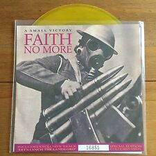 "Faith No More - A Small Victory 7"" Yellow Vinyl"