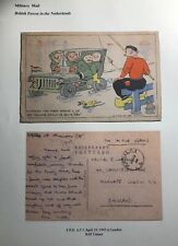 1945 British Army PO Active Service Netherlands Postcard Cover To London England