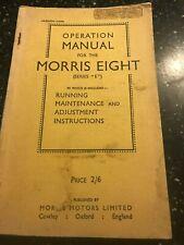 ORIGINAL MORRIS EIGHT 8 SERIES E SERVICE OPERATION REPAIR MANUAL 1948 UK