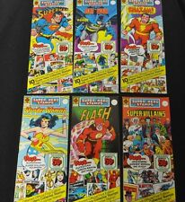 OFFICIAL DC SUPER HERO STAMPS COMPLETE SET OF 6 SEALED AND UNPUNCHED RARE 1976