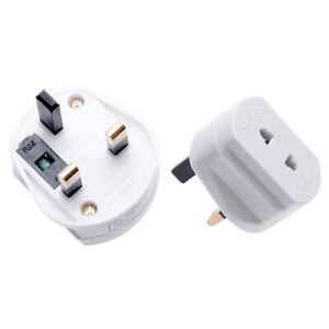 Toothbrush Adaptor Plug UK Charger Adapter Shaver Socket 2 Pin to 3 Pin Electric