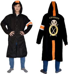 Cosplay One Piece Trafalgar Law Anime Party Long Cloak Costume Uniform Cloak