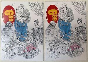 Warhol Memorial Furneral card 1987 x 2 limited edition scarce
