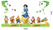 Large Snow White Seven Dwarfs Wall Sticker Kids Nursery Room Decal Home Decor
