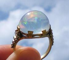 VINTAGE 14K MEXICAN JELLY OPAL CABOCHON RING-SIZE 7.25