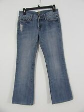 7 for all Mankind Distressed Flare Rhinestone Jeans Size 27