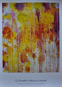 """Cy Twombly flowers  """"untitled"""" abstract art original large poster MINT"""