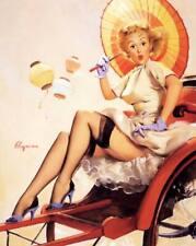 "Vintage GIL ELVGREN Pinup Girl CANVAS PRINT Poster China Travels 8X10"""
