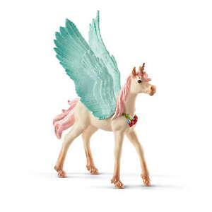 70575 Schleich Decorated Unicorn Pegasus, Foal (Fantasy Bayala) Plastic Figure