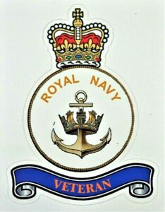 NEW HM ROYAL NAVY MILITARY STICKER REMEMBRANCE DAY D-DAY CAR / VAN / AND MORE